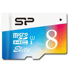 Silicon Power Elite Color microSDXC - 8GB
