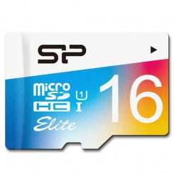 Silicon Power Elite Color microSDXC - 16GB