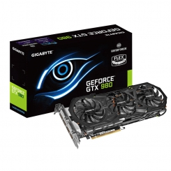 GIGABYTE GV-N980WF3OC-4GD GeForce GTX 980 4GB 256-Bit DDR5