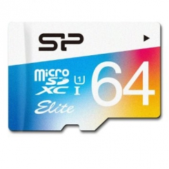 Silicon Power Elite Color microSDXC - 64GB