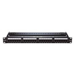 Patch Panel Cat 5E UTP Keystone Type- 24 Port-Fully Loaded NPP-5E1BLK241