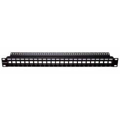 Patch Panel UTP Keystone- 24 Port- Unloaded (Cat 5e,Cat 6) NPP-AL1BLK241