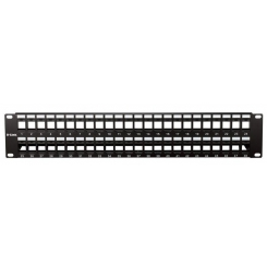 Patch Panel UTP Keystone - 48 Port- Unloaded (Cat 5e,Cat 6) NPP-AL1BLK481