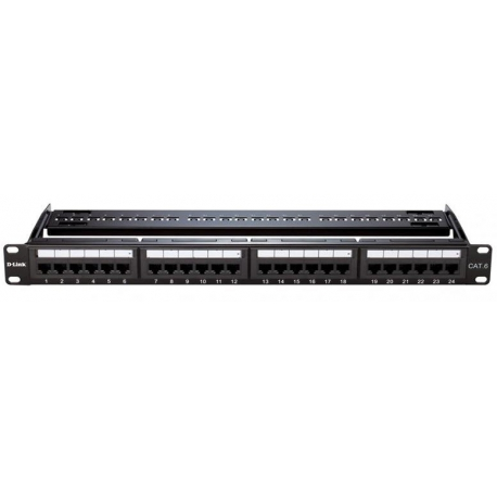Patch Panel Cat 6 UTP Keystone Type - 24 Port-Fully Loaded