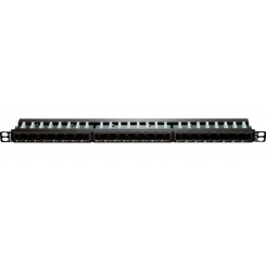 24Port Cat6 UTP Angular Fully Loaded Keystone Type -0.5U NPP-C61BLK243