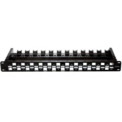 Patch Panel UTP 24 Port Unloaded (Cat6A)NPP-6A1BLK241