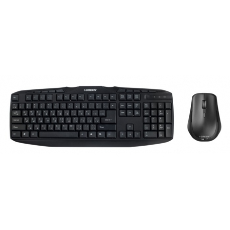 Green Bundeled Wired Keyboard + Mouse GKM-305