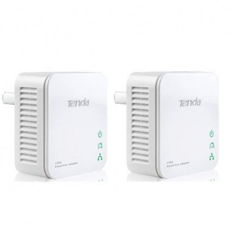 2 عدد آداپتور پاورلاین P200-Kit تندا Tenda P200-Kit x 2 - 200Mbps PowerLine Mini Adapter
