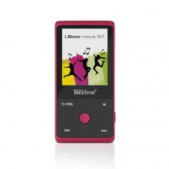 ام پی تری پلیر آی بیت موو بی تی ترکستور TrekStor Mp3 Player i.Beat Move BT - Rubin Red
