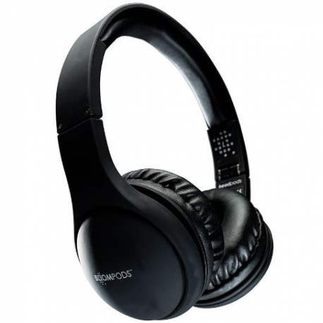 BOOMPODS foldable headphones headpods Black