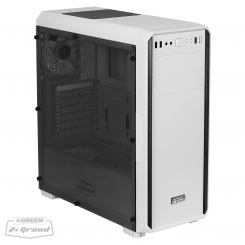 Green Z Plus GRAND Computer Case - White
