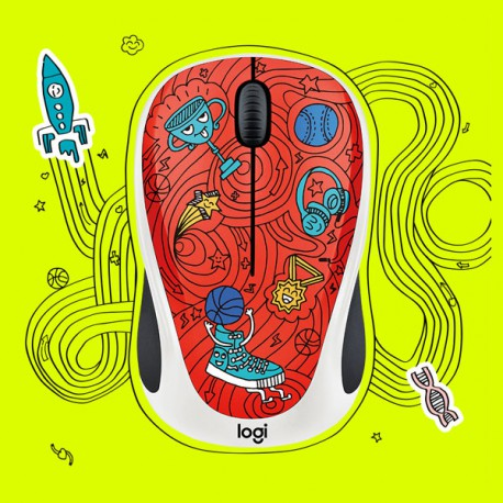 Logitech M238 DOODLE CHAMPION CORAL Wireless Mouse