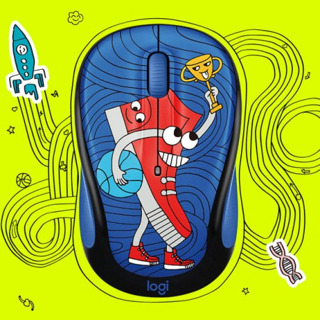 Logitech M238 DOODLE SNEAKER HEAD Wireless Mouse