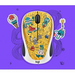 Logitech M238 DOODLE GO GO GOLD Wireless Mouse