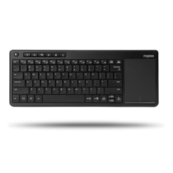 Rapoo K2600 Wireless Touchpad Keyboard - Black