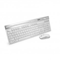 Tsco Keyboard and Mouse TKM 7106 Wireless - White‏