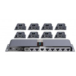 Lenkeng LKV718PRO 1 to 8 HDMI Extender And Splitter