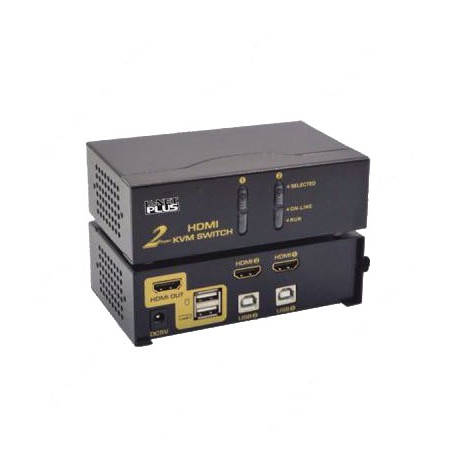 K-Net Plus Auto HDMI KVM 2 Port - Black