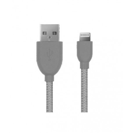 K-Net Plus K-UC560 iPhone Braided Charging Cable - White