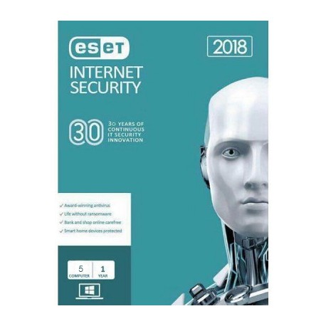 Eset Nod32 Internet Security 2018 - 5 PC
