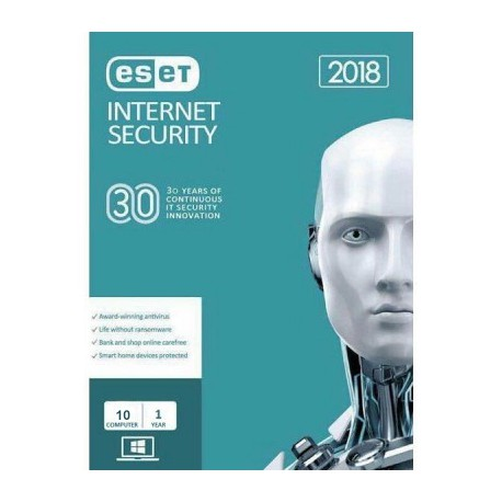 Eset Nod32 Internet Security 2018 - 10 PC