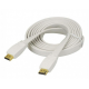 Faranet HDMI FLAT Cable 3D - White 1.5m