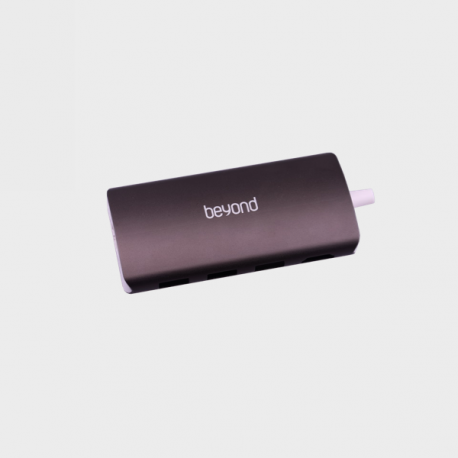 Beyond BA-495 8 Port USB-C Hub - Black