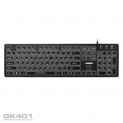 Green GK401 Keyboard With Persian Letters - Black