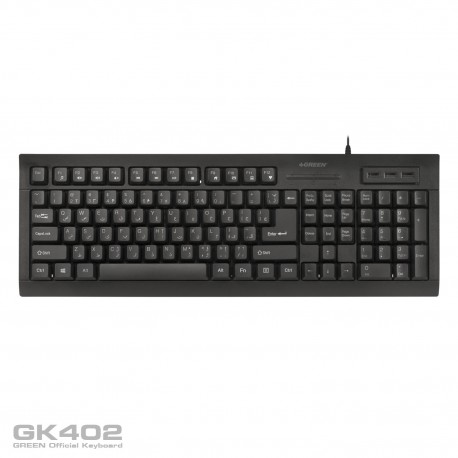 Green GK402 Keyboard With Persian Letters - Black