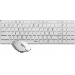 Rapoo 9300P Wireless Desktop With Persian Letters - White