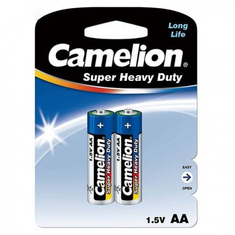 Camelion Super Heavy Duty AA Battery Pack of 2