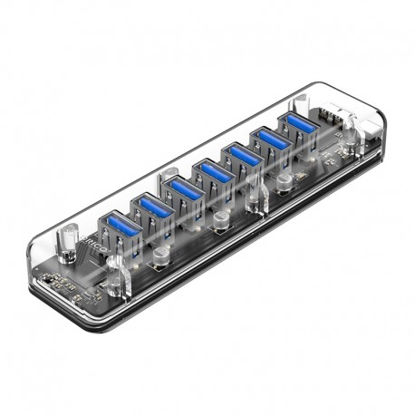 ORICO F7U 7 Port USB3.0 Transparent HUB