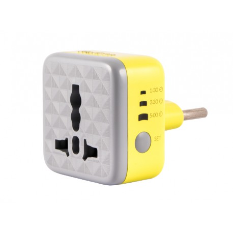 Hadron P102 Surge Protector and Adaptor - Yellow