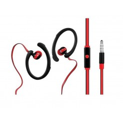 Volkano High Performance Sports Series Earphones with MicVS203-bkr Black & Red