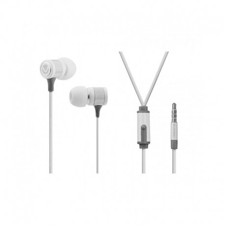 Volkano Metallic series earphones VMS201-Wht - White