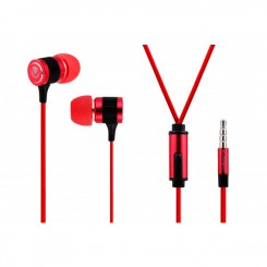 Volkano Metallic series earphones - VMS201-R -Red
