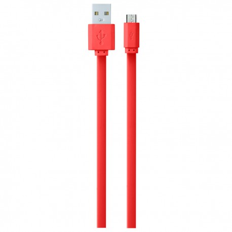 Amplify linkded micro usb braided cable red