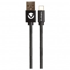 Volkano Metal series Type-C cable-CAB346-BK- black