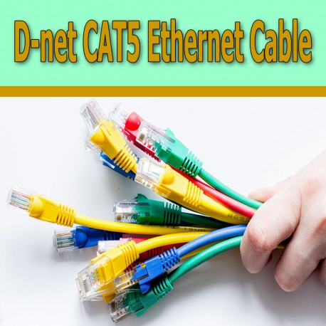 D-net CAT5 Ethernet Cable 30cm