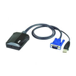 ATEN CV211 Laptop USB KVM Console Crash Cart Adapter