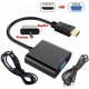 HDMI to VGA WITH AUDIO CONVERTER