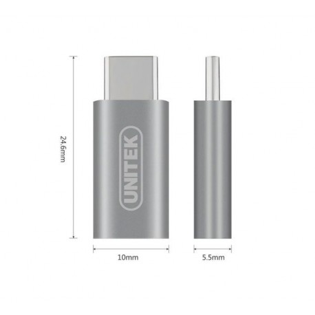 مبدل TYPE-C TO MICRO USB یونیتک مدل UNITEK Y-A027AGY