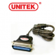 مبدل(UNITEK Y-120 USB TO PARALLEL CONVERTER (CN36M