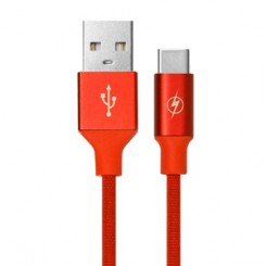 TSCO TC C12 TYPE-C CHARGING CABLE -RED 1M