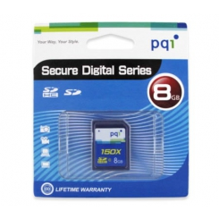 PQI 8GB SD Memory Card