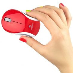 Logitech M187 ULTRA PORTABLE WIRELESS MOUSE - Red